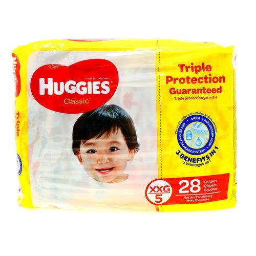 Pañal Bebe Huggies Classc Tripl Xxg 28 Un