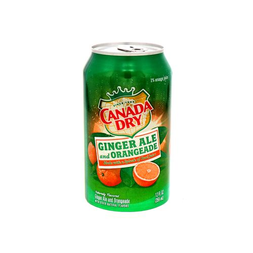 Refresco Canadá Dry Ginger Ale Y Naranja 12 Oz
