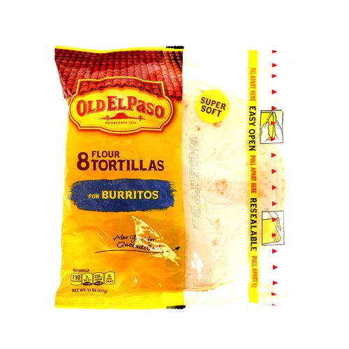 Tortilla De Harina Old El Paso Para Burritos 8 Un