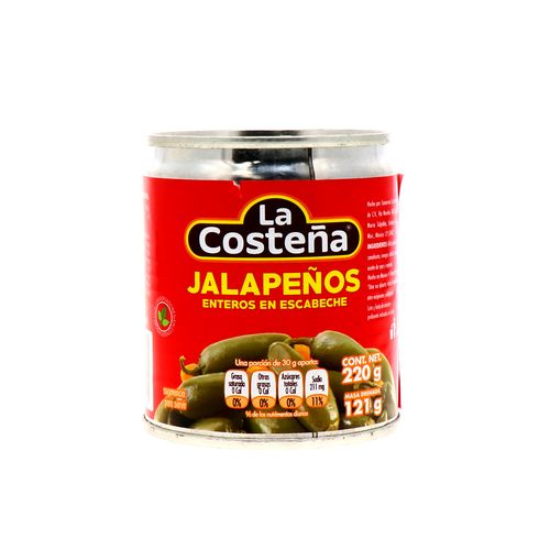 Chile Jalapeño La Costeña Entero 220 Gr