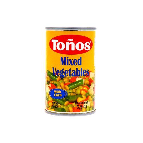 Vegetales Mixtos Tonos Lata 170 Gr