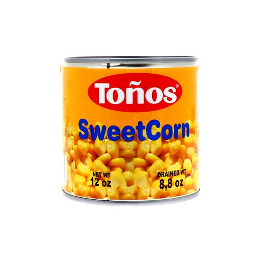 Maíz Dulce Tonos Lata 340 Gr