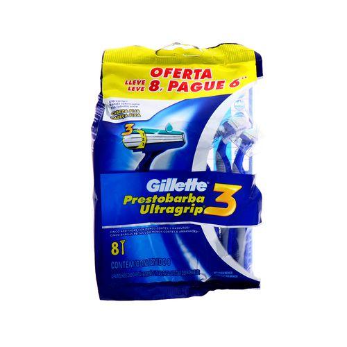 Prestobarba Gillette Ultragrip 3 8Un