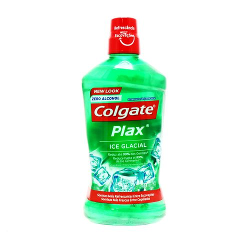 Enjuague Bucal Colgate Plax Zero Alcohol Ice Glacial 1 Lt