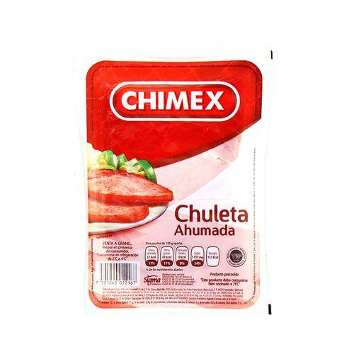 Chuleta Ahumada Chimex 560 Gr