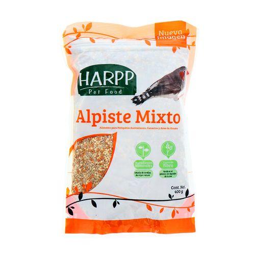 Alpiste Para Aves Harpp Mixto 400 Gr