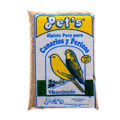 Alpiste Para Aves Pets Canario&Perico 700 Gr