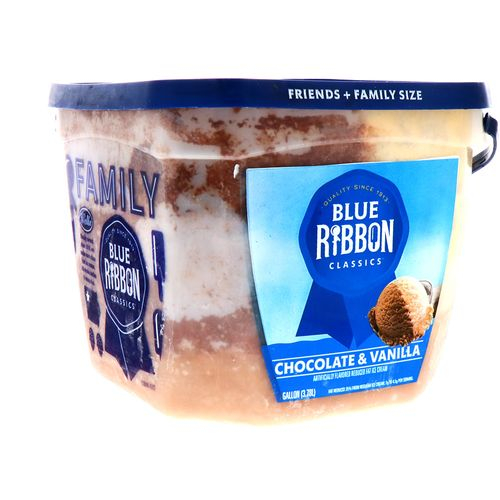 Helado Blue Ribbon Classics Chocolate&Vainilla 128 Oz