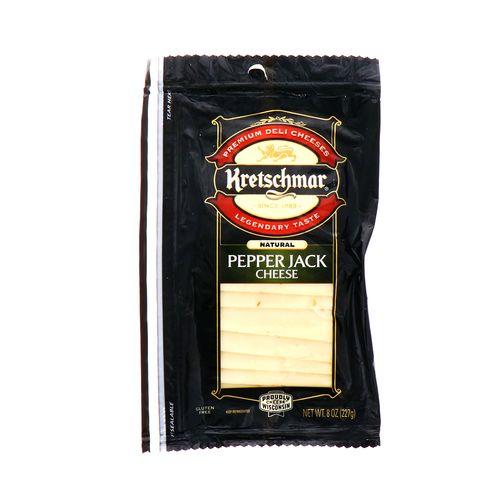 Queso Pepper Jack Kretschmar En Rodajas 8 Oz
