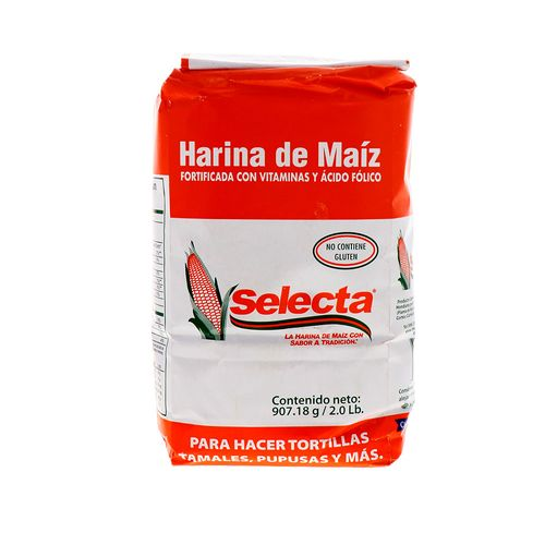 Harina De Maíz Selecta Mixta Fortificada 908 Gr