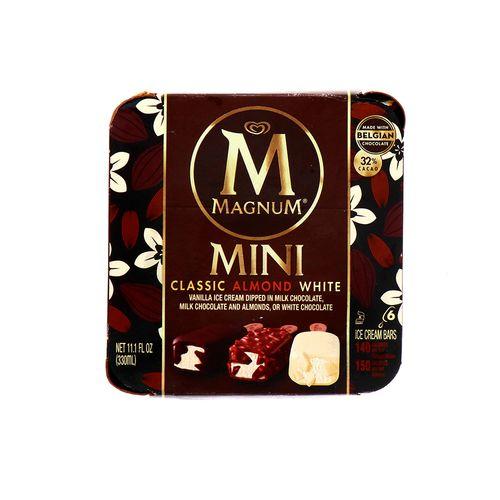 Barra De Helado Magnum Mini Clasic Almond And White 11.1 Oz