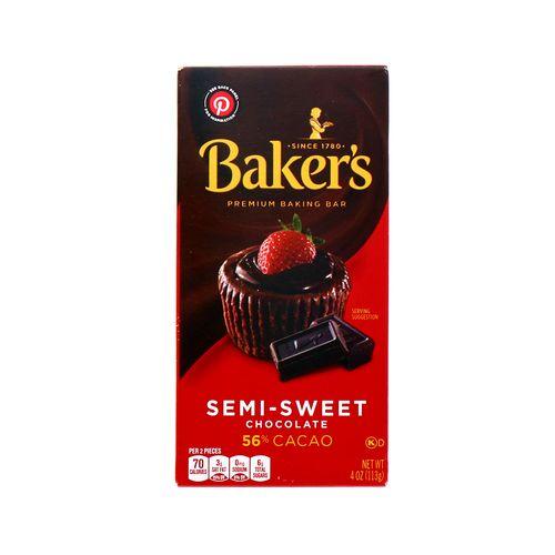 Chocolate Bakers Semi Sweet 8 Oz