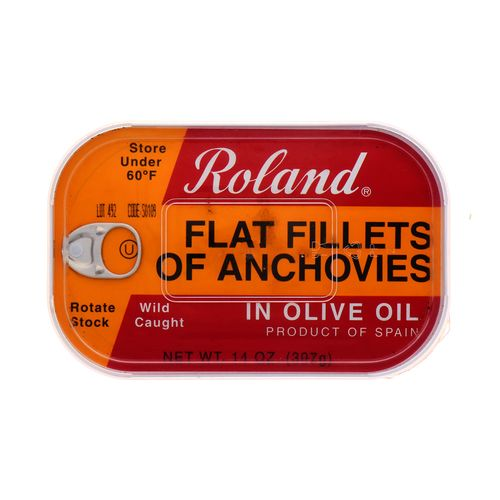 Filete De Anchoa Roland En Aceite De Oliva 14 Oz