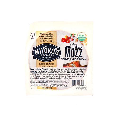 Queso Mozzarella Miyokos Ahumado Vegano 8 Oz