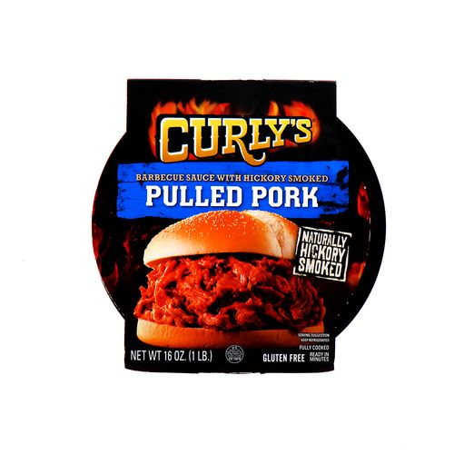 Pulled Pork Curlys Salsa Barbacoa Hickory Ahumado 16 Oz