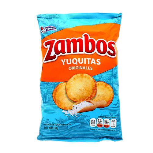 Churro Zambo Yuquitas Originales 130 Gr