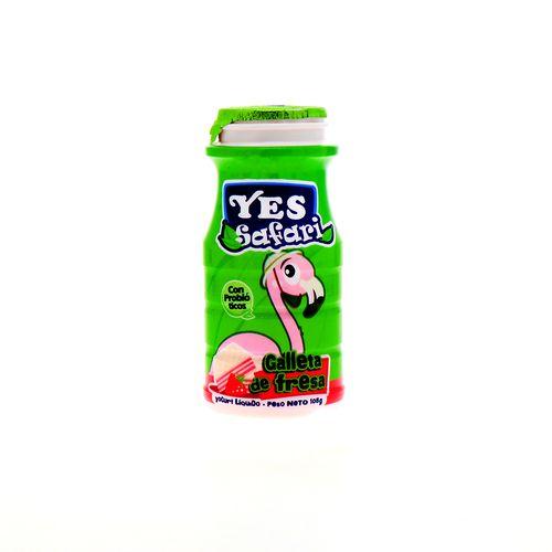Yogurt Liquido Yes Safari Galleta De Fresa 105 Gr