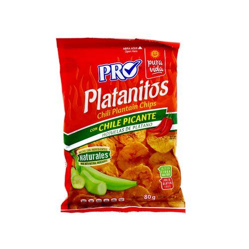 Churro Pro Platanitos Con Chile Naturales 80 Gr