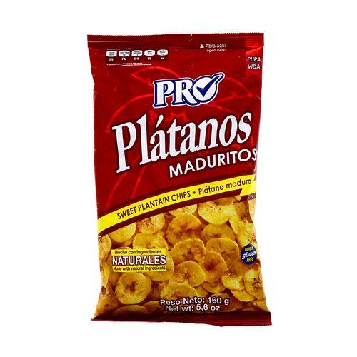 Churro Pro Platanos Maduritos Naturales 160 Gr