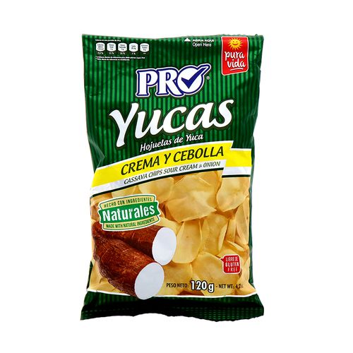 Churro Pro Yucas Crema Cebolla Naturales 120 Gr
