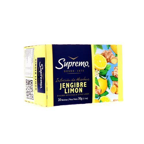 Te Supremo Hierbas Jengibre Limon 30 Gr