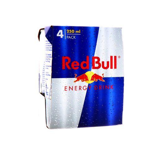 Bebida Energizante Red Bull Energy Drink 250Ml Pack 4 Un