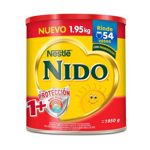 Leche En Polvo Nido 1+ Protección Doble Acción En Lata 1.95 Kg