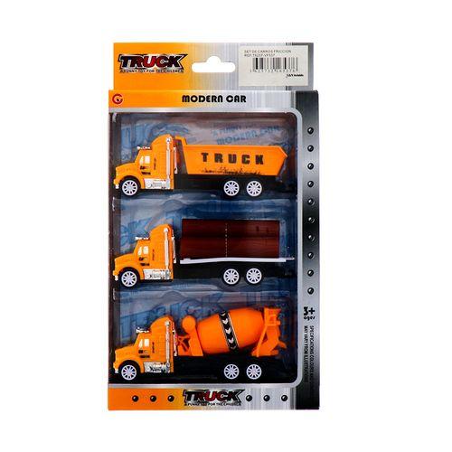 Set De Carros Fricción Truck Modera Car
