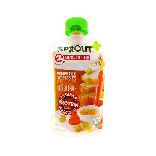 Colado Organic Sprout Vegetales & Pera 3.5 Oz