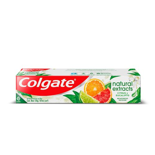 Gel Dental Colgate Natural Extracts Citrusy Eucalipto 87ml