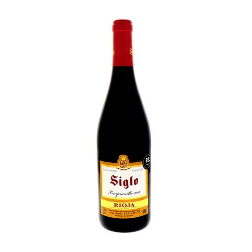 VinoTinto Siglo Rioja Tempranillo 2018 750 Ml