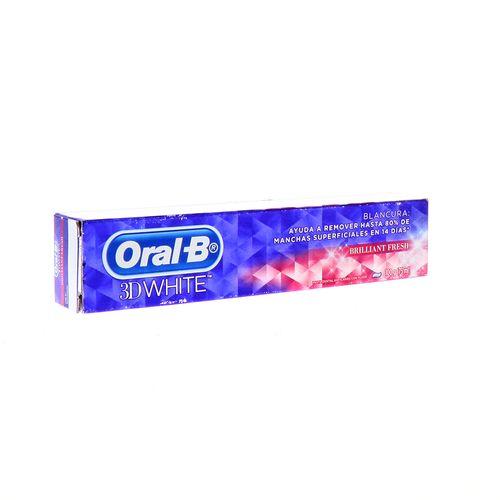 Pasta Dental Oral-B 3D White Brilliant Fresh 100 Gr