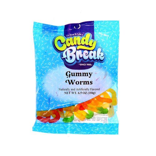 Dulce Candy Break Gummy Worms 6.5Oz