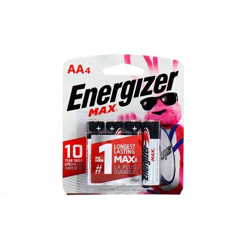 Batería Max Energizer Aa 4 Un