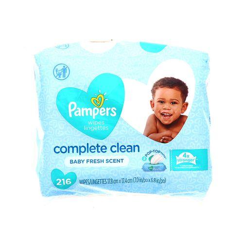 Toallita Húmeda Pampers Complete Clean Con Esencia 216 Un