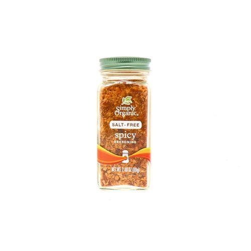 Sazonador Simply Organic Picante Sin Sal 2.4 Oz