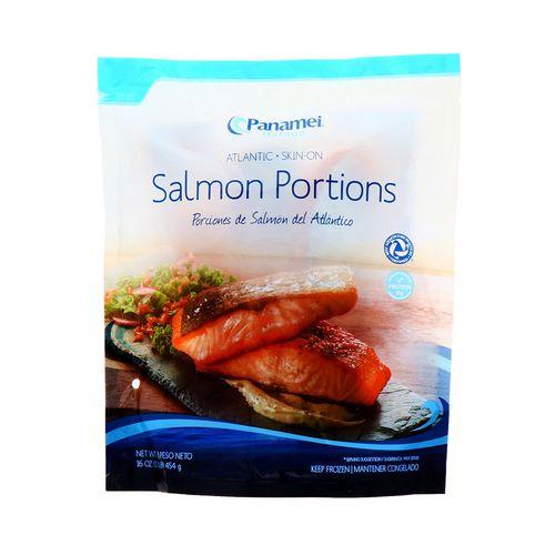 Salmon Panamei Con Piel En Porciones 16 Oz