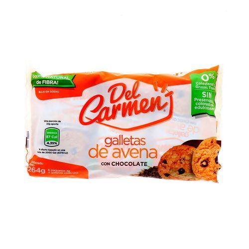 Galletas Del Carmen De Avena Con Chocolate 264 Gr