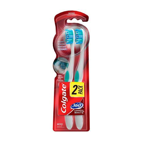 Cepillo Dental Colgate 360° Luminous White 2 Pack