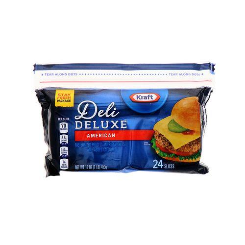 Queso Americano Kraft Deluxe Rebanado 16 Oz