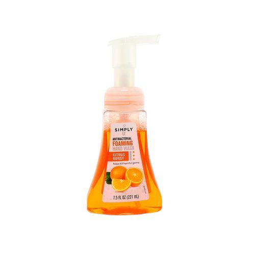 Jabón Antibacterial Simply Foaming Citrus Burst 7.5 Oz