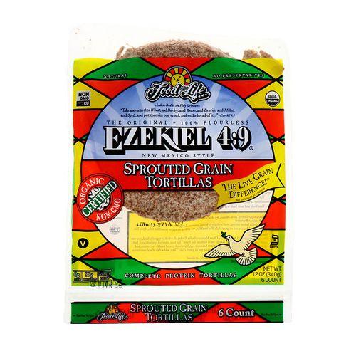 Tortilla Food For Life Ezekiel4:9 Grano Germinado 12 Oz