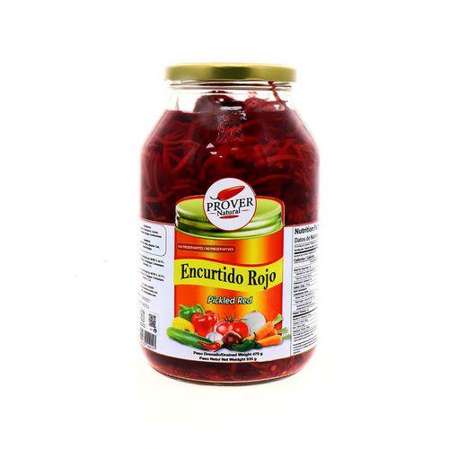 Encurtido Prover Natural Rojo 470 Gr