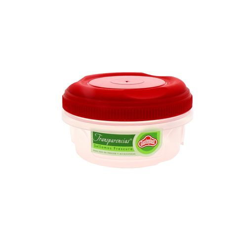 Cilindro Guateplast Transparencias Domo Con Rosca Rojo 355Ml