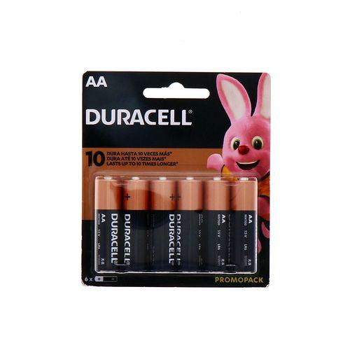 Batería Duracell Duralock Aa 4+2Un