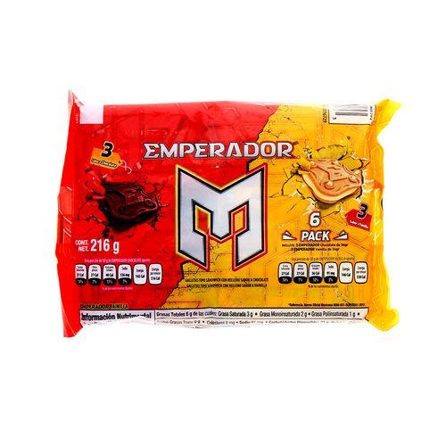 Galleta Emperador Sándwich Chocolate Vainilla 216 Gr