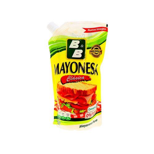 Mayonesa B&B Clásica Omega 3 Doypk 400 Gr