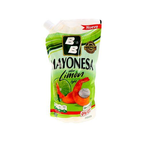 Mayonesa B&B Light Omega 3 Limón Doypack 400 Gr