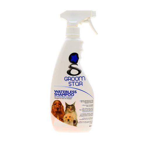 Shampoo Para Perro&Gato Groom Star En Seco S/Enjuague 400 Ml