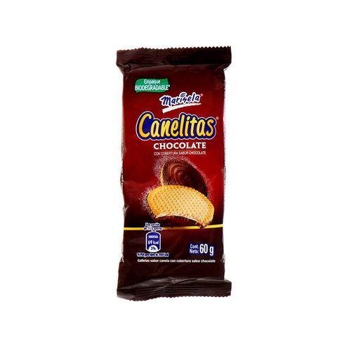 Galleta Marisela Canelitas Cobertura Chocolate 60 Gr